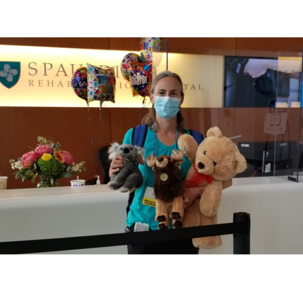 Stacey Z accepting gifts for patients